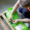 Sustainable postal satchel